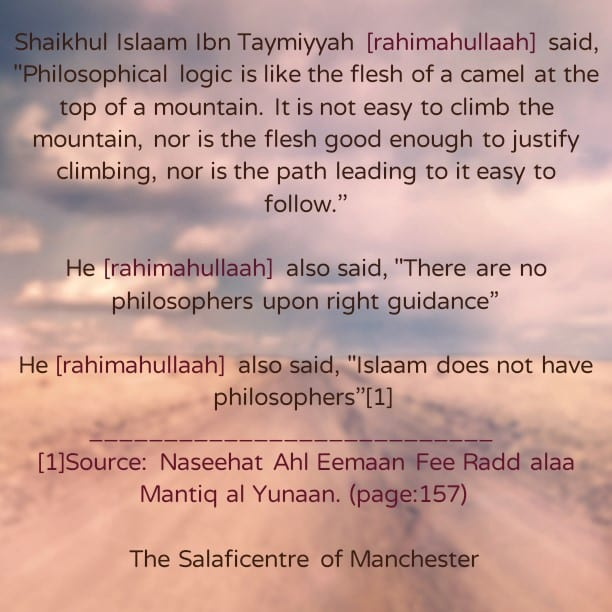 The Reality of Philosophy – ibn Taymiyyah