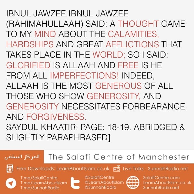 A Thought Came To My Mind – Ibnul Jawzee