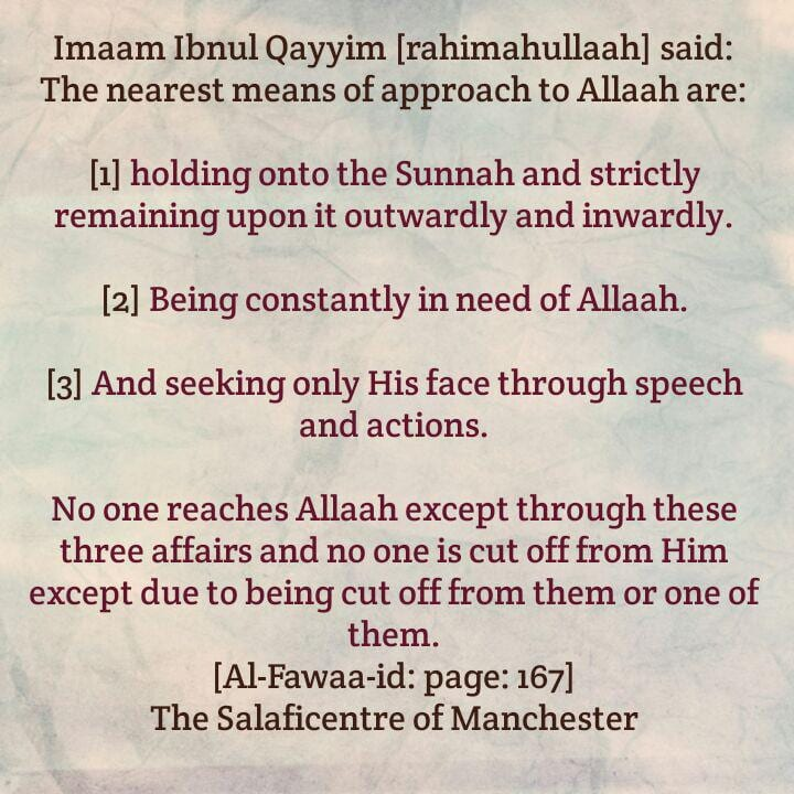 The Nearest Means of Approach to Allaah – By Imaam Ibnul Qayyim