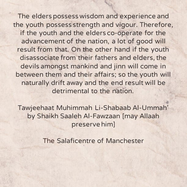 Important Guidance For The Youth of The Ummah–Shaikh Saaleh Al-Fawzaan