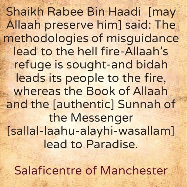 Where do the Methodologies of misguidance lead to?! By Al-Allaamah Rabee Bin Haadi