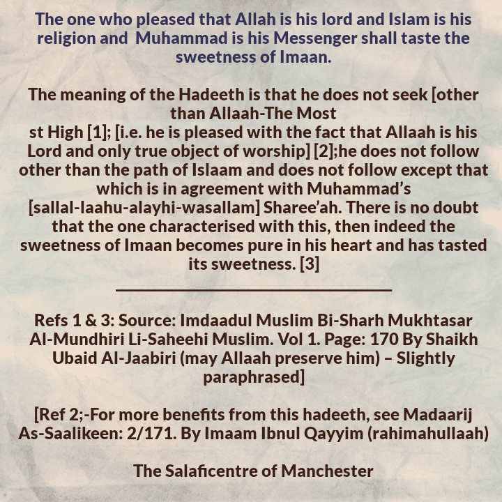 The Three Affairs That Will Make You Taste the Sweetness of Imaan