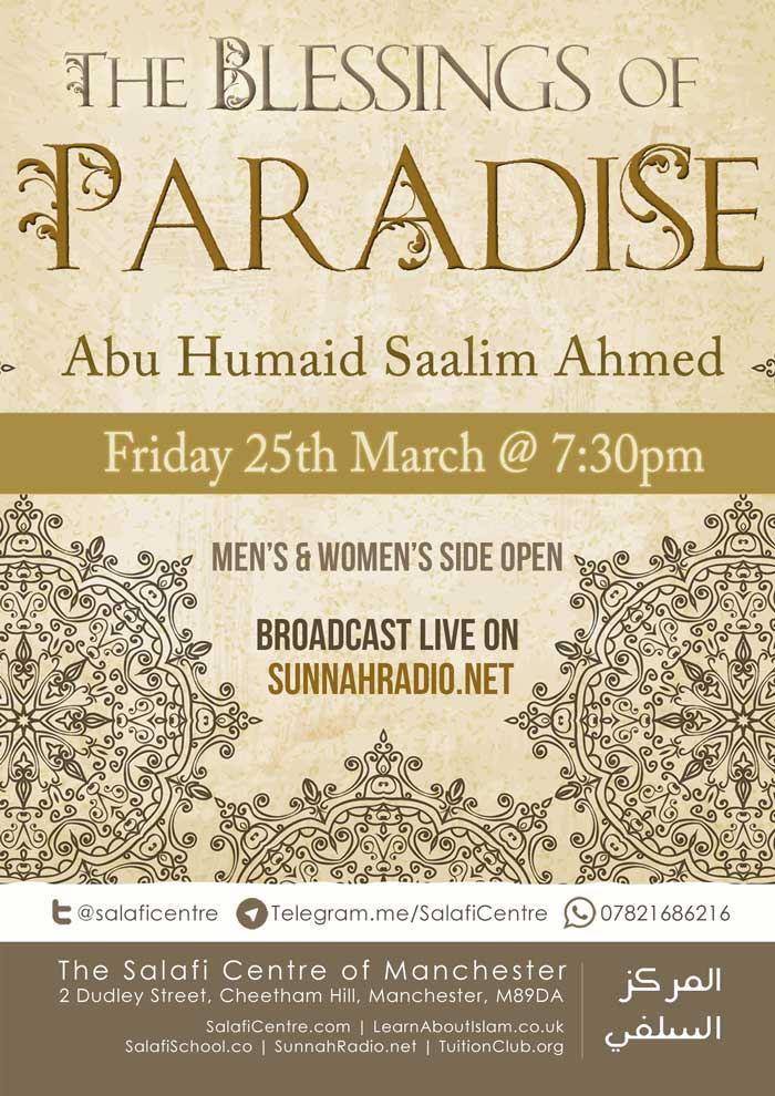 The Blessings of Paradise – Live Friday 25th Mar @ 7:30pm