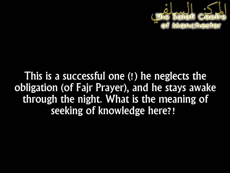I Missed Saalatul Fajr Because I Was Awake All Night | Shaikh al-Fawzaan