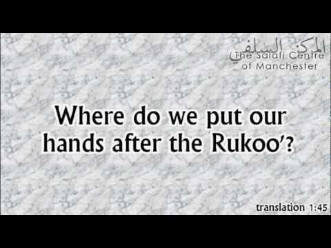 Where do we put our hands after Rukoo'? | Shaikh Zayd ibn Hadee al-Madkhalee