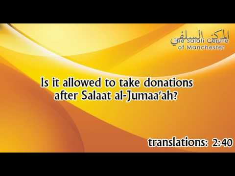Is it allowed to take donations after Salat at-Jumaa'ah? | Shaikh Zayd ibn Hadee al-Madkhalee
