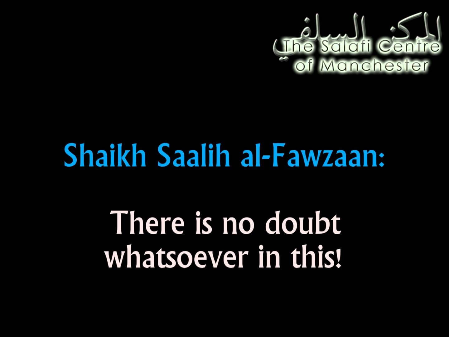 This one has cursed Allaah! | Shaikh Saalih al-Fawzaan