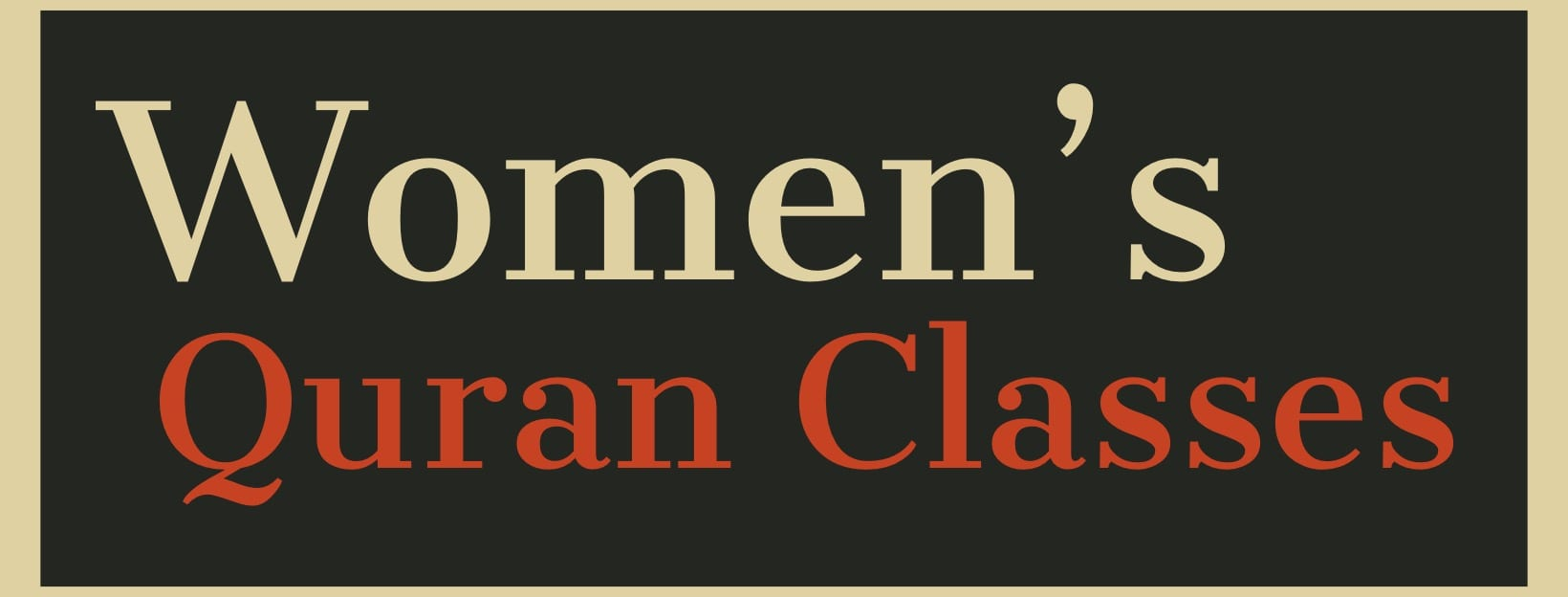 Women's Qur'aan Classes