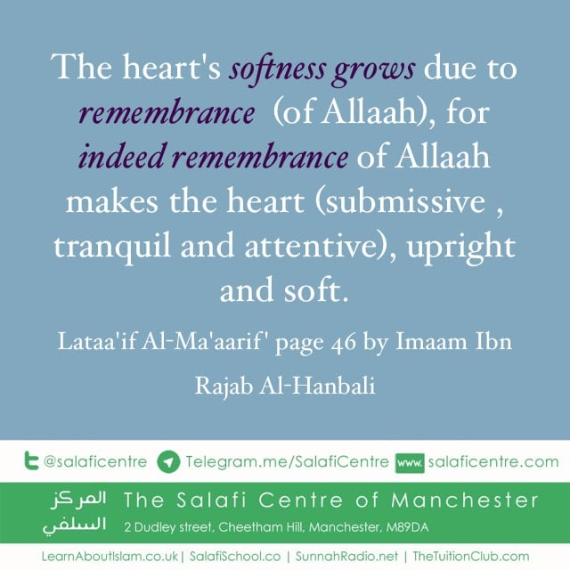 Means of Softening the Heart – Ibn Rajab