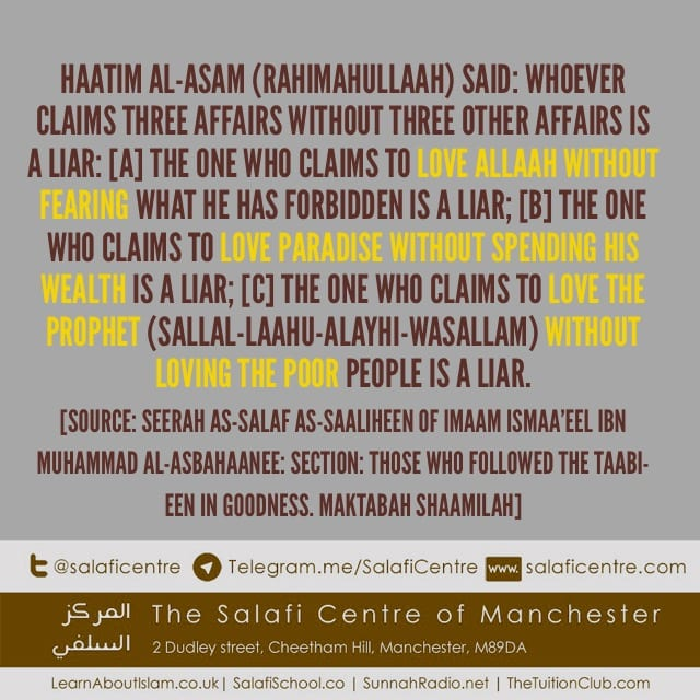 Backing Up Your Claims In Three Important Affairs- Haatim Al-Asam