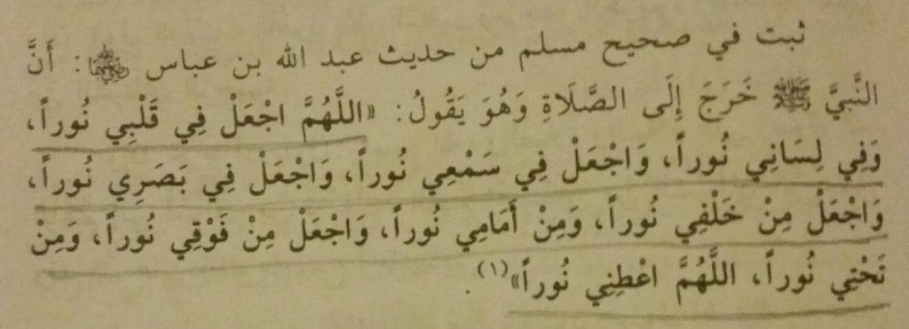 Supplication When Leaving For Salaah In Jamaa'ah [i.e. in the Masjid]