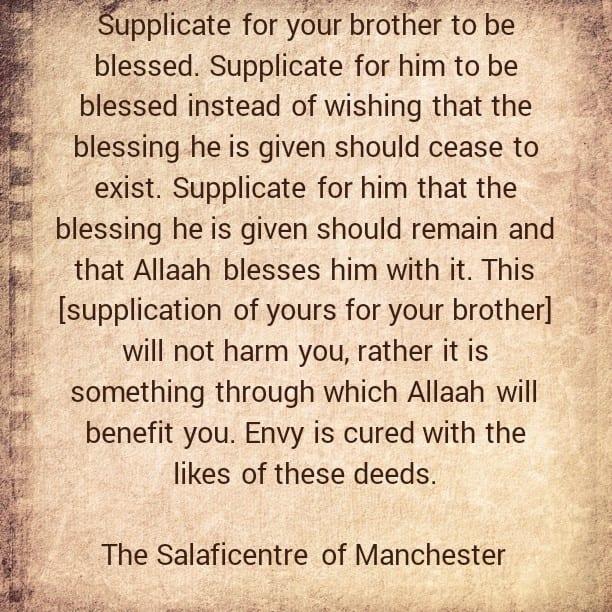 Some Cures for Blameworthy Envy – [By Shaikh Saaleh al-Fawzaan (may Allaah preserve him)]