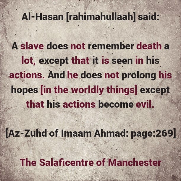 A Praiseworthy Outcome Related to Remembrance of Death -[May Allaah grant Us This Blessing]