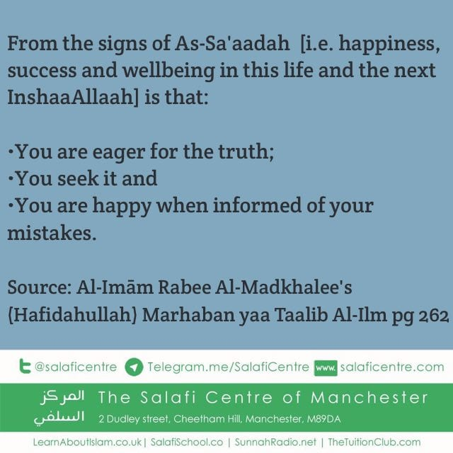 Benefits of Seeking and Adhering to the Truth – Ash Shaykh Rabee Al Madkhalee