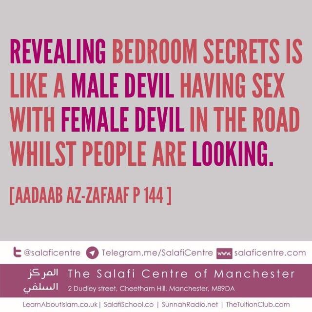 revealing bedroom secrets the salafi centre of manchester