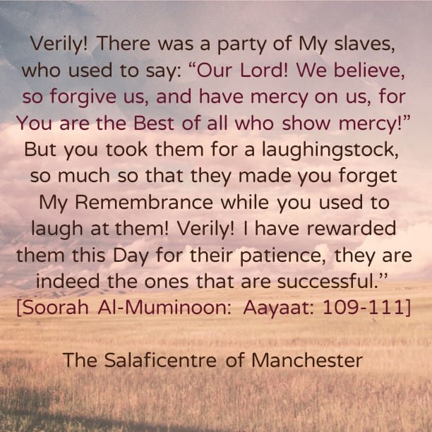 Tremendous Reward For Those Who Exercise Patience In Obedience to Allaah When They Are Taken For a laughingstock- [Words of Consolation From Imaam Ibnul Qayyim (rahimahullaah)]