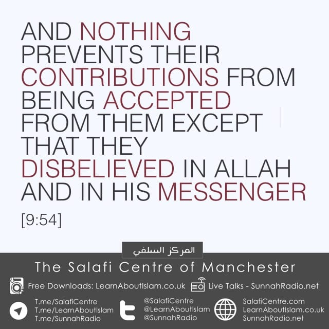 The Cost of Disbelieving in Allah