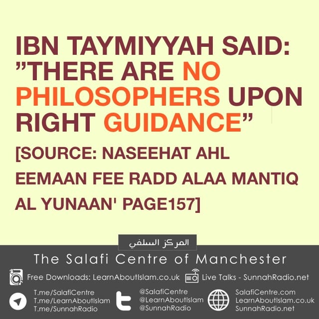 The State Of The Philosophers- Ibn Taymiyyah