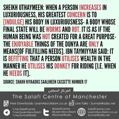 A Person Utilises Wealth In The Manner He Utilises His Donkey- Ibn Taymiyyah, with a benefit from Sheikh Uthaymeen