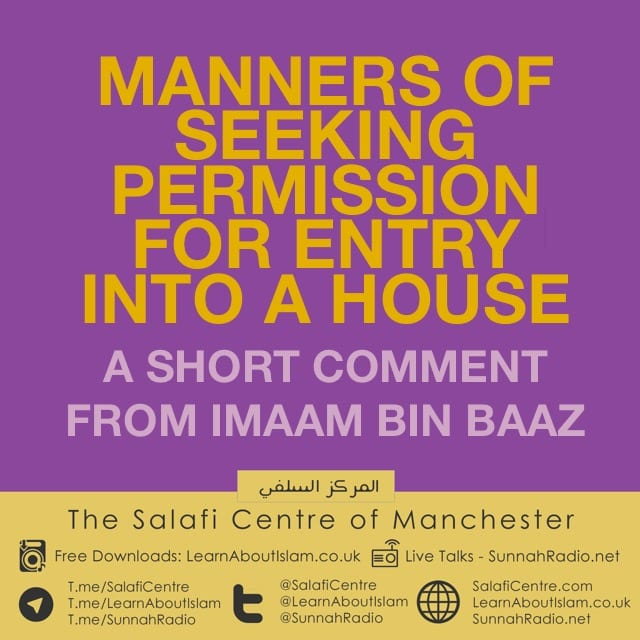 Manners of Seeking Permission For Entry Into a House