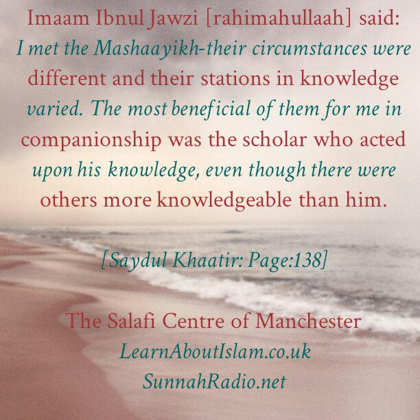 Which Mashaayikh Benefited Me The Most – By Ibnul Jawzi [rahimahullaah]