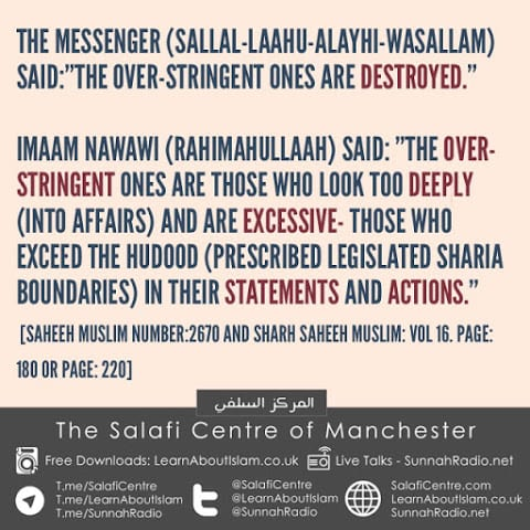 Hadith: The Over-Stringent Ones Are Destroyed With Explanation By Imam Nawawi