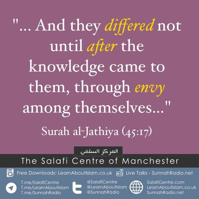 Blameworthy Envy- [A Cause among the Causes of Differing and Splitting]