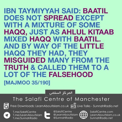 They Misguided Many From The Truth- Ibn Taymiyyah