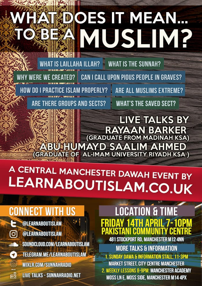 What Does It Mean To Be A Muslim – Dawah Event – South Manchester