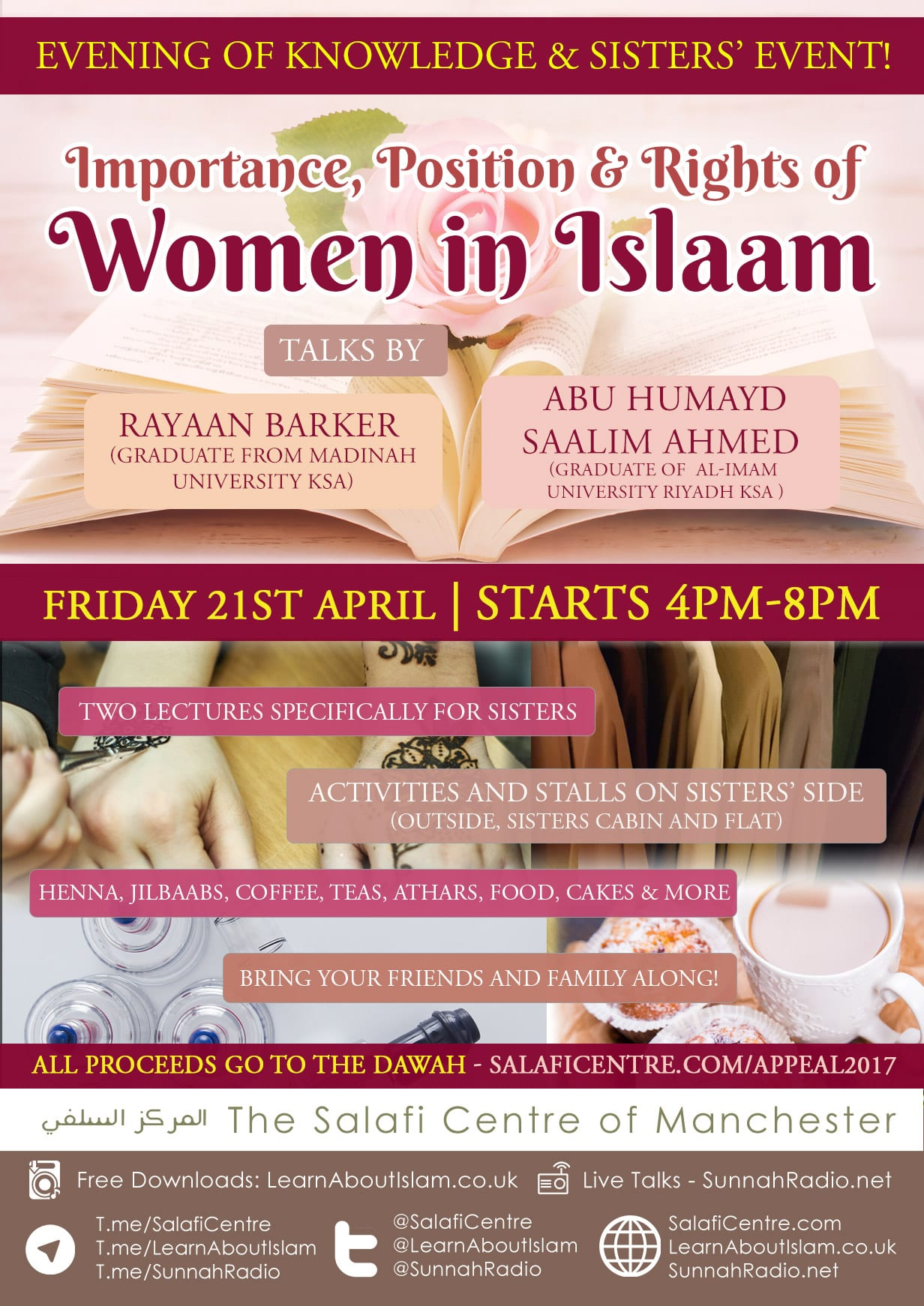 """Evening of Knowledge & Sisters' Event! """"Importance, Position & Rights of Women"""""""
