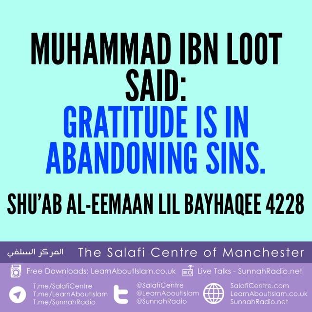 Gratitude – Muhammad ibn Loot