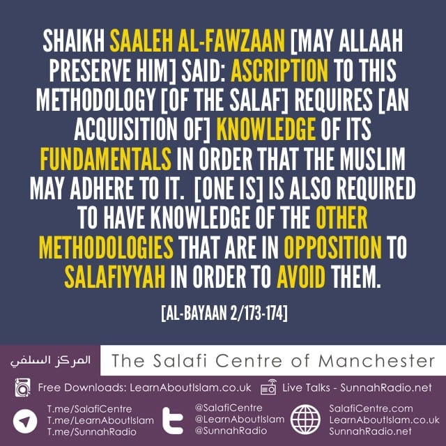 Be Upon Salafiyyah Based on Knowledge, Understanding and Action, And Not Based on Mere Claims – by Shaikh Fawzaan [may Allaah preserve him]