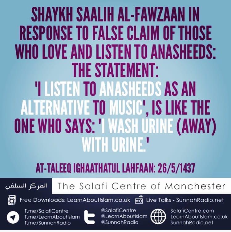 Listening to Anasheeds instead of Music – Shaykh Saalih Al-Fawzaan