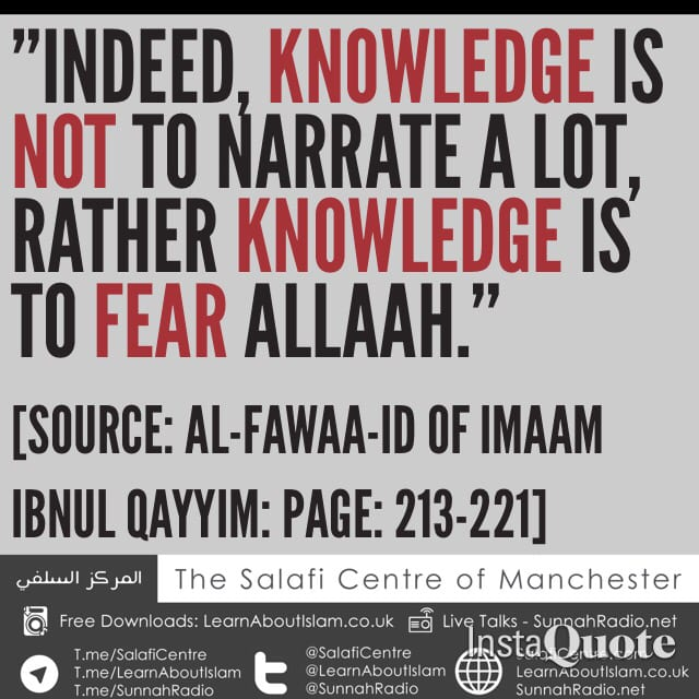 Knowledge Is To Fear Allah