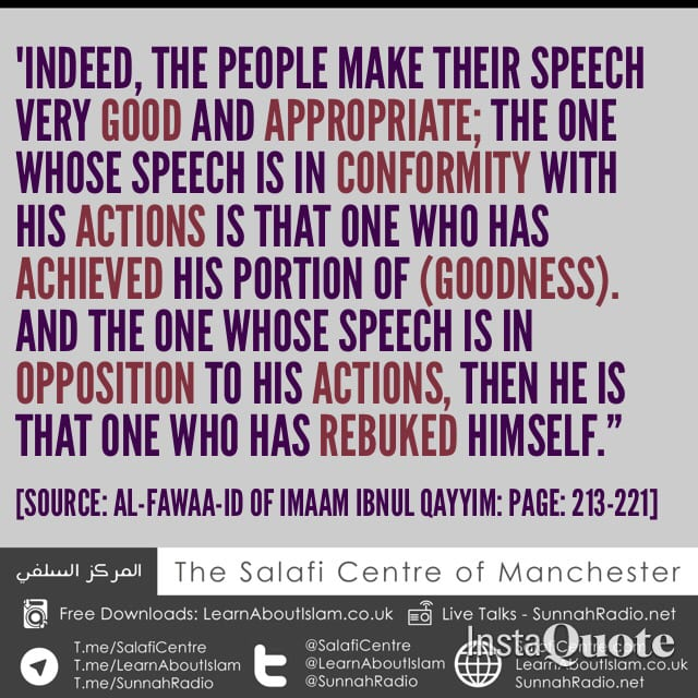 Is Your Speech In Conformity With Your Actions?