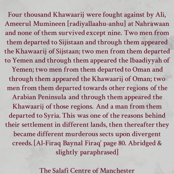 How The Khawaarij [Murderous Terrorist Devils] Settled in Different Regions After Ali [Ameerul Mumineen] and His Army Dealt with Them at Nahrawaan