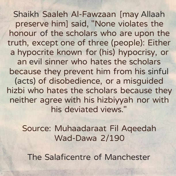None Violates The Honour of The Scholars, Except One of These Three Types of People