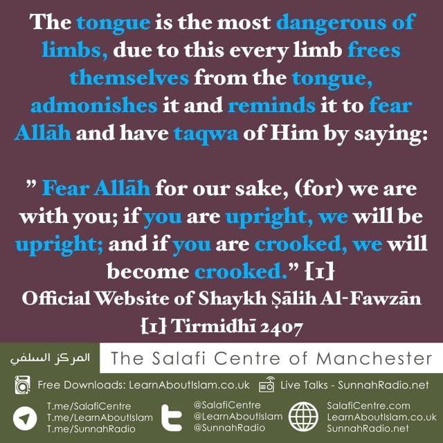The Tongue is the Most Dangerous of Limbs – Shaykh Ṣālih Al-Fawzān