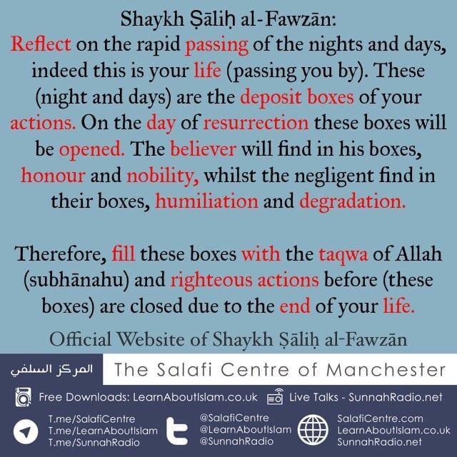 Fill Your Deposit Boxes!! – Shaykh Ṣāliḥ al-Fawzān