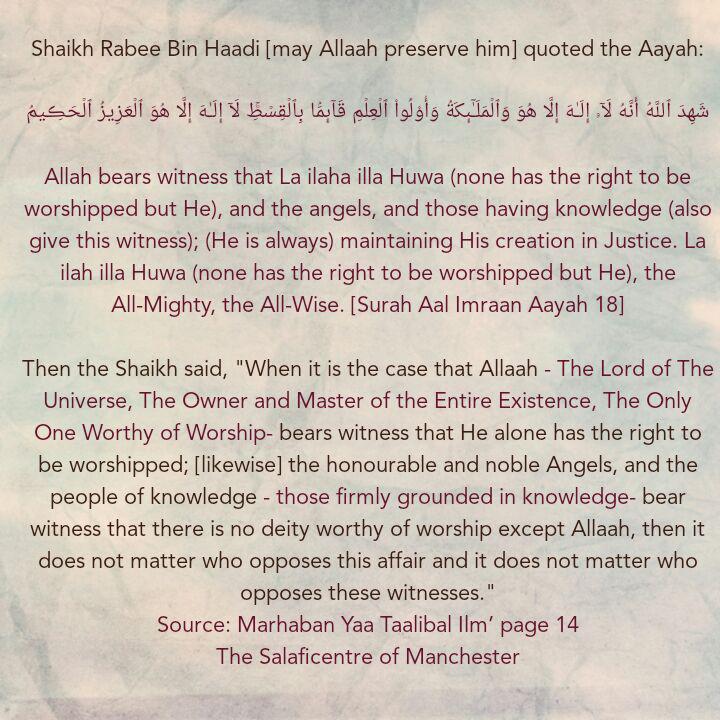 [1] Excerpts From Shaikh Rabee's Book Titled 'Marhaban Yaa Taalibal Ilm'