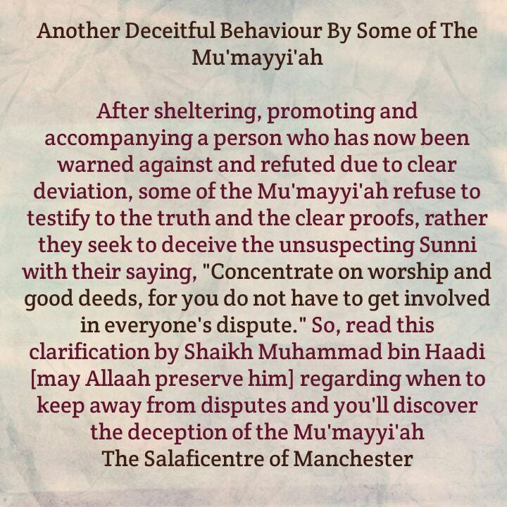 Mu'mayyi'ah Running Away From Their Obligations Again After a Deviant They Accompanied and Sheltered Is Refuted With Robust Proofs