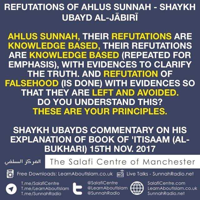 Refutations of Ahlus Sunnah – Shaykh Ubayd Al-Jābirī