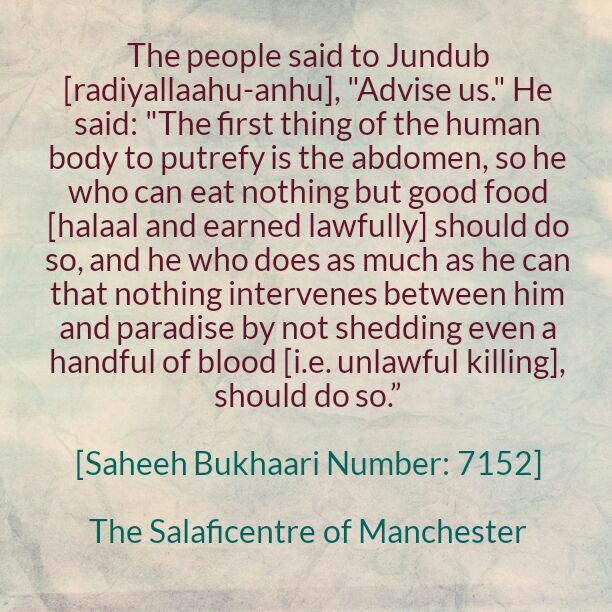 Seek After Lawful Earnings And Do Not Spill Even a Handful of Blood – [Jundub Advised The People]