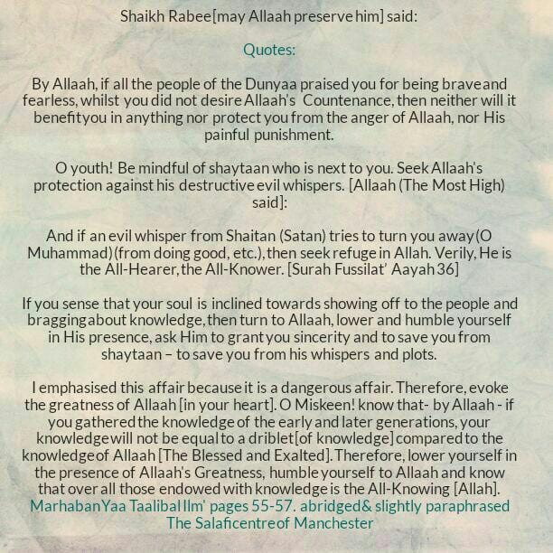 13C]: Excerpts From Shaikh Rabee's Book Titled 'Marhaban Yaa