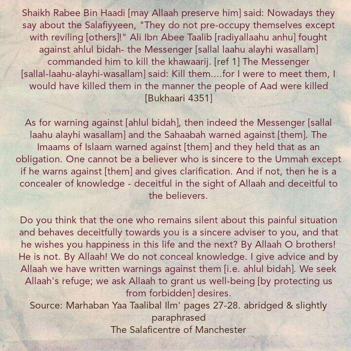 [7] Excerpts From Shaikh Rabee's Book Titled 'Marhaban Yaa Taalibal Ilm'- [Concealers of Knowledge and Deceivers]