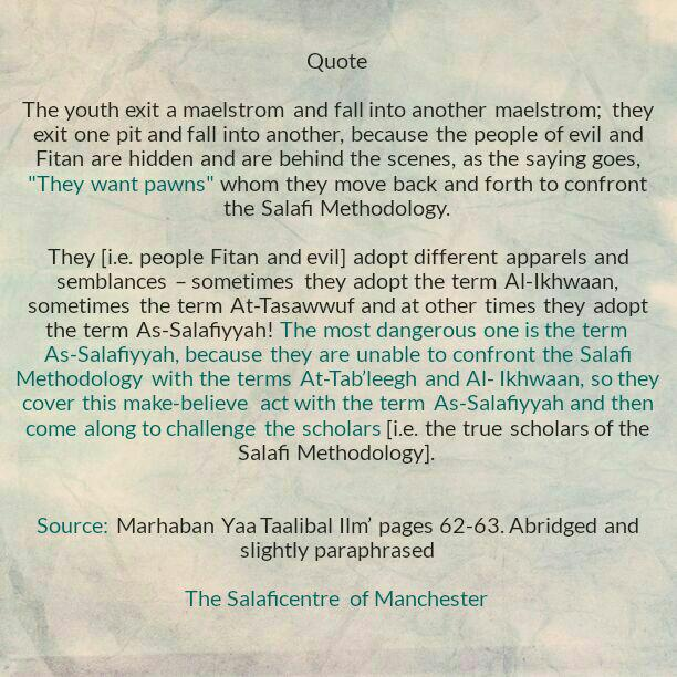 [15D] Excerpts From Shaikh Rabee Book Titled 'Marhaban Yaa Taalibal Ilm'-[The People of Fitan Are Unable to Confront The Salafi Methodology, So They Utilise Different Apparels and Semblances to Deceive The People]