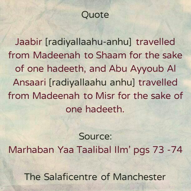 [17] Excerpts From Shaikh Rabee's Book Titled 'Marhaban Yaa Taalibal Ilm' – [Travelling to Seek Knowledge]