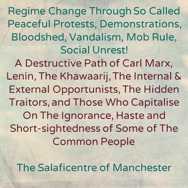 Destructive Path, Manifest Evil and Dangerous Nonsense – [Regime Change Through So Called Peaceful Protests, Vandalism, Mob Rule, Social Unrest etc]