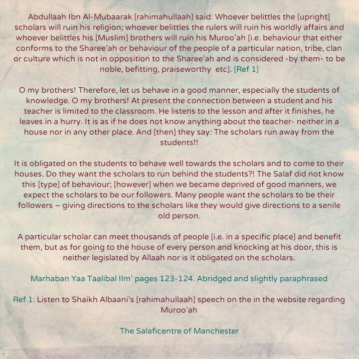 [34b] Excerpts from Shaikh Rabee's Book Titled 'Marhaban Yaa Taalibal Ilm'-[Some Consequences of Bad Bahaviour Towards The Scholars And One's Companions]