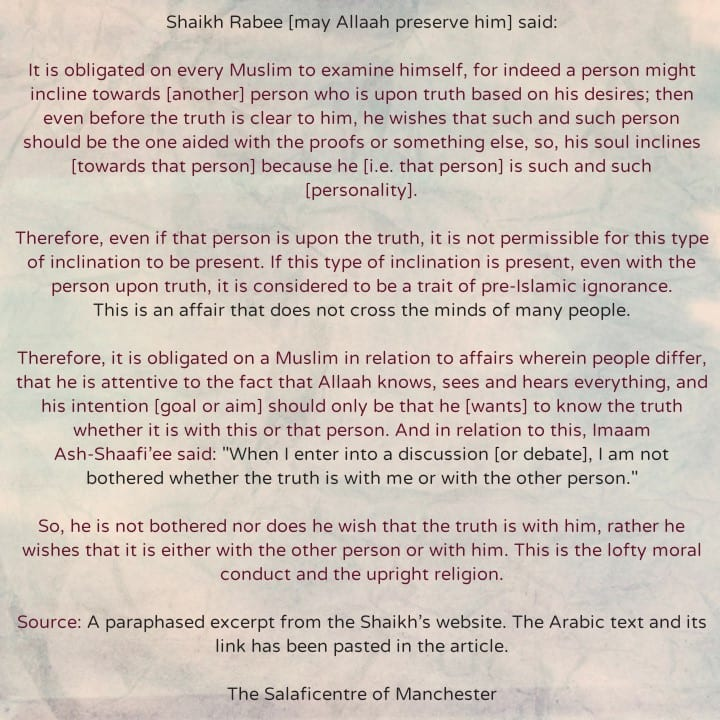 One of The Very Important Affairs That Should Be The Centre of One's Attention Whilst Seeking After Truth – [By Shaikh Rabee (may preserve him)]